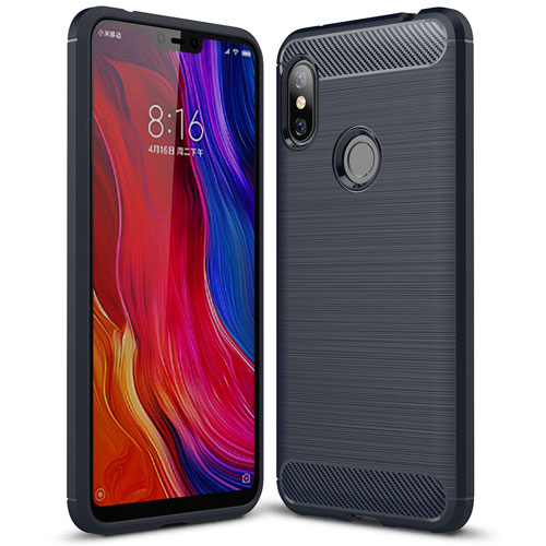 Bakeey Carbon Fiber Protective Case for Redmi Note 6 Pro Blue