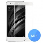 Xiaomi Mi 6 Color Frame 2.5D Tempered Glass Screen Protector White