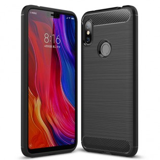 Bakeey Carbon Fiber Protective Case for Redmi Note 6 Pro Black