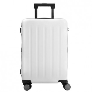 "Mi Trolley 90 Points Suitcase 20"" White Moon Light"
