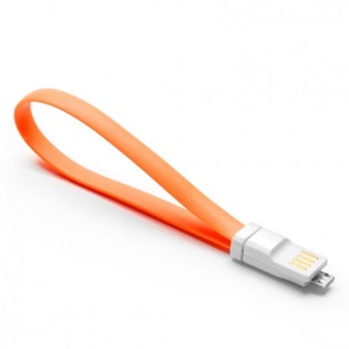 Qingmi Micro USB Fast Charging Cable 20cm Orange