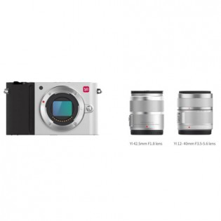 Xiaomi Yi M1 Mirrorless Digital Camera Dual Lens Chinese Version Silver