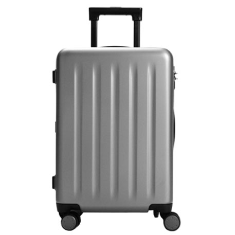 "Mi Trolley 90 Points Suitcase 20"" Gray Stars"