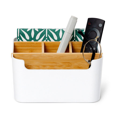 Zen`s Bamboo Multifunction Desktop Storage Box/Organizer