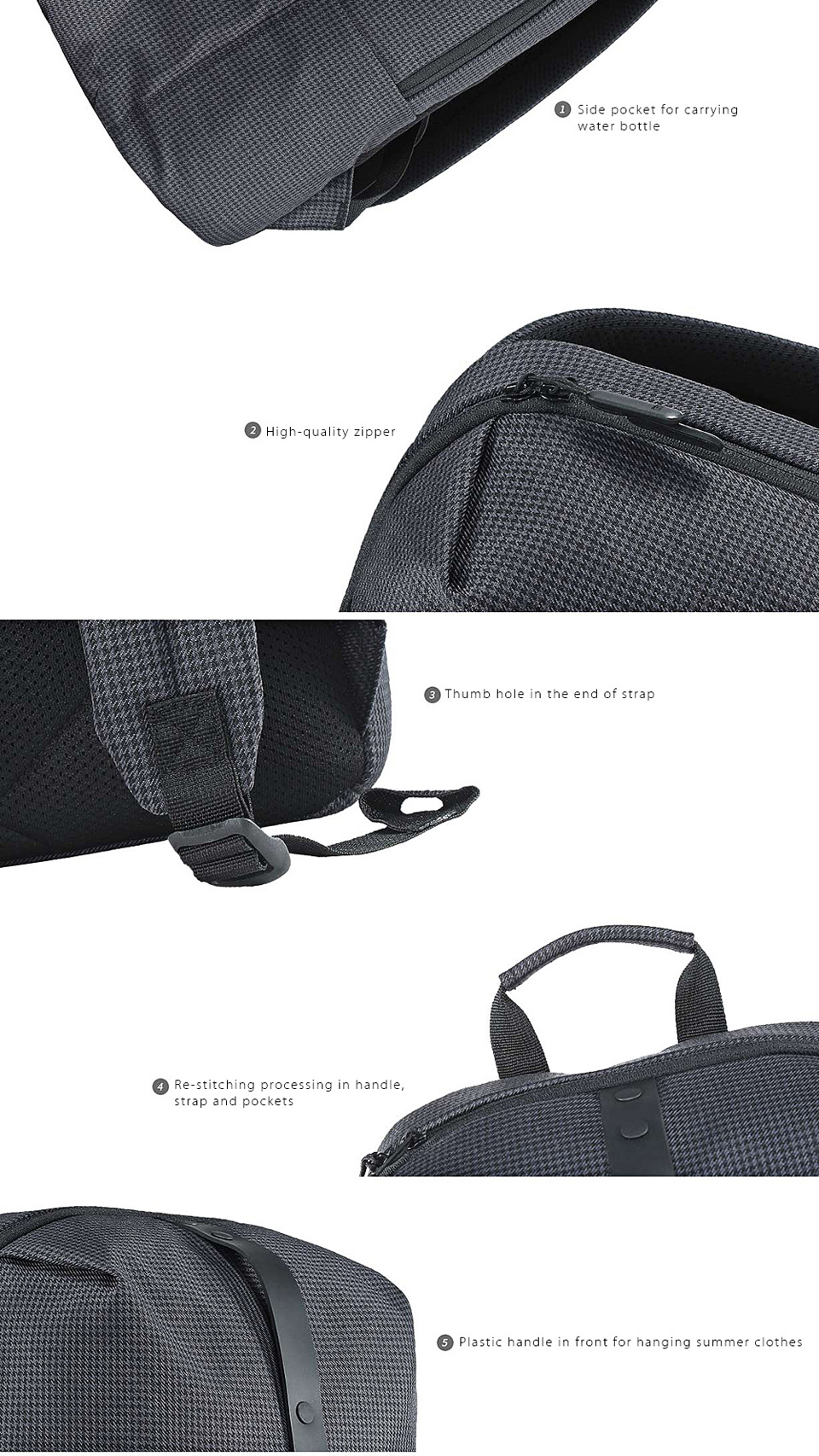 Xiaomi Mi Casual College Backpack Black Photo 4